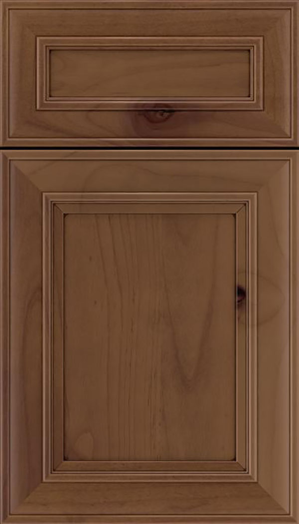 Sheffield 5pc Alder recessed panel cabinet door in Sienna with Mocha glaze