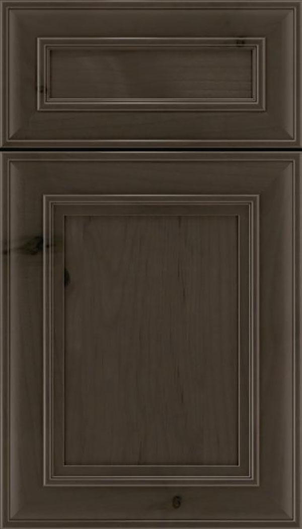 Sheffield 5pc Alder recessed panel cabinet door in Thunder