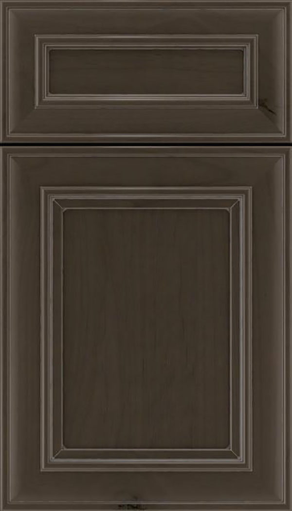 Sheffield 5pc Alder recessed panel cabinet door in Thunder with Pewter glaze