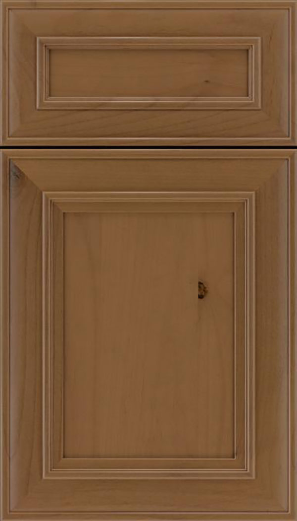 Sheffield 5pc Alder recessed panel cabinet door in Tuscan