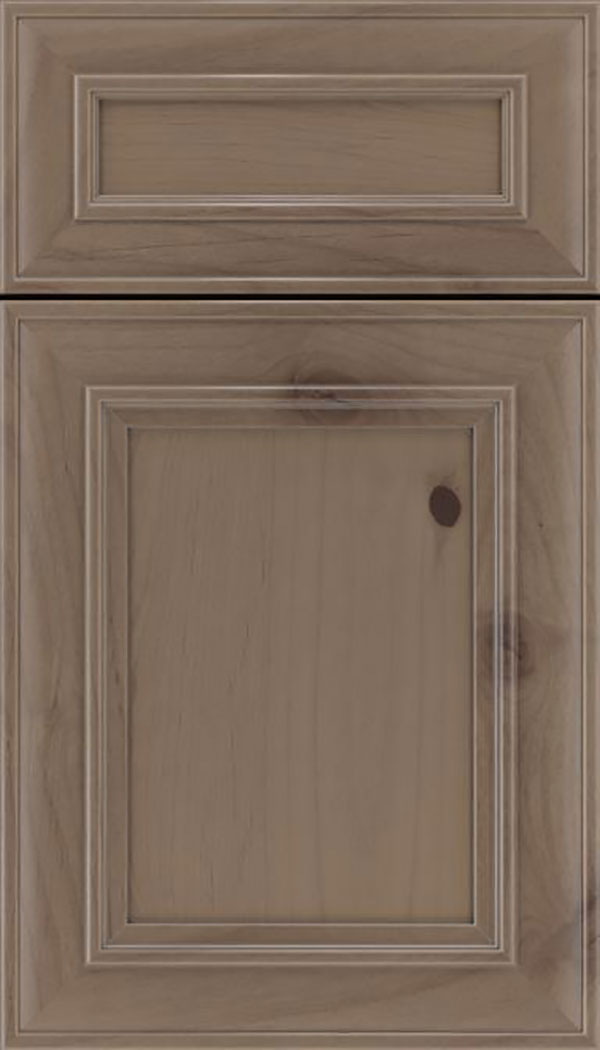 Sheffield 5pc Alder recessed panel cabinet door in Winter with Pewter glaze