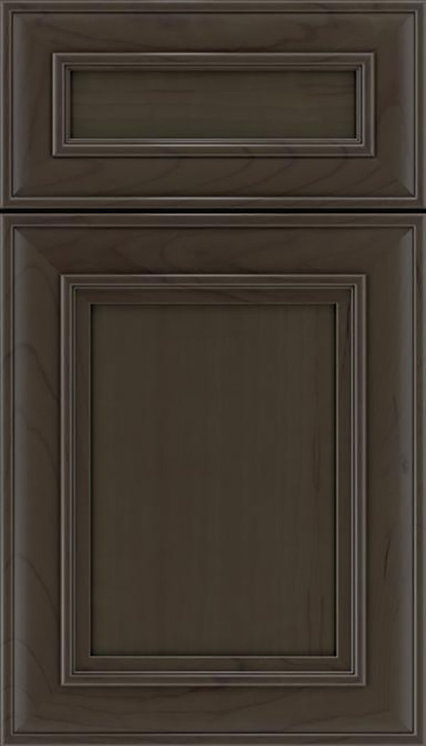 Sheffield 5pc Cherry recessed panel cabinet door in Thunder