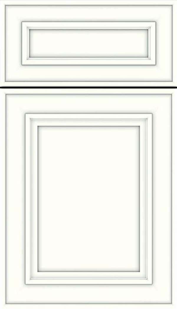 Sheffield 5pc Maple recessed panel cabinet door in Alabaster