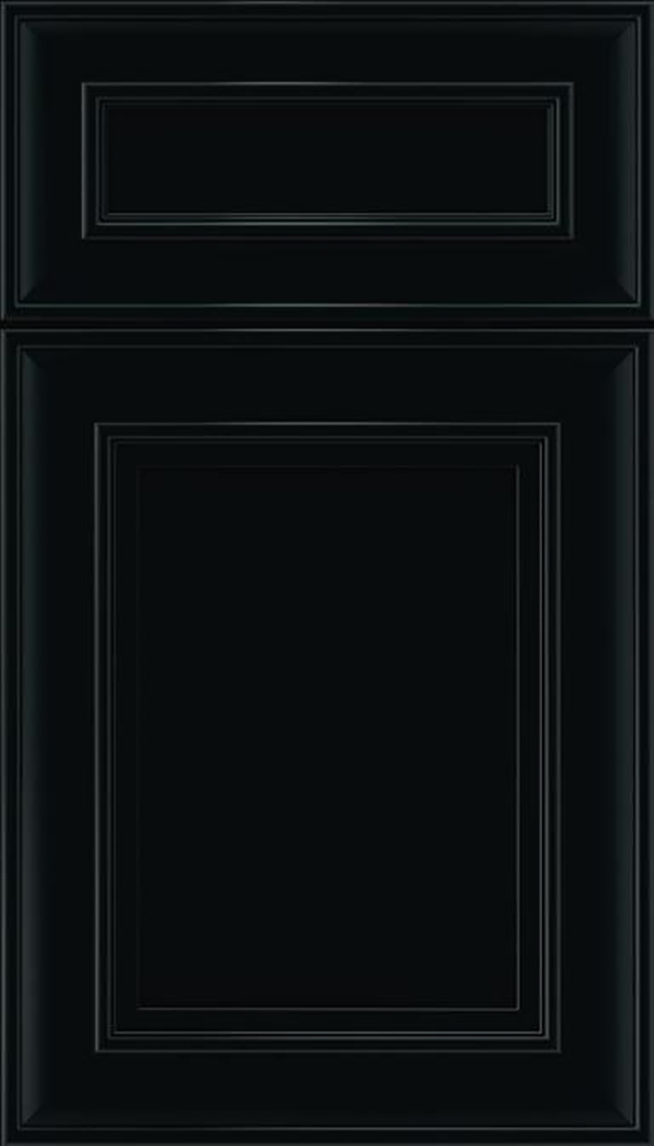 Sheffield 5pc Maple recessed panel cabinet door in Black