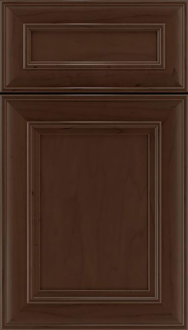 Sheffield 5pc Maple recessed panel cabinet door in Cappuccino