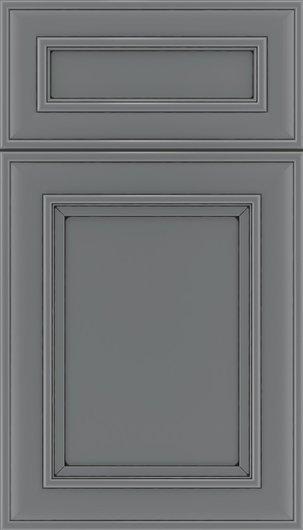 Sheffield 5pc Maple recessed panel cabinet door in Cloudburst with Black glaze