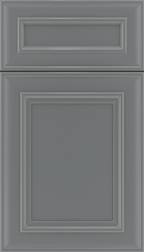 Sheffield 5pc Maple recessed panel cabinet door in Cloudburst with Pewter glaze
