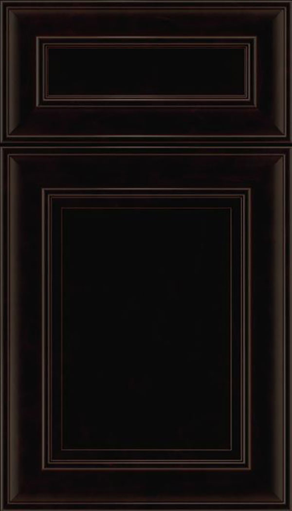 Sheffield 5pc Maple recessed panel cabinet door in Espresso