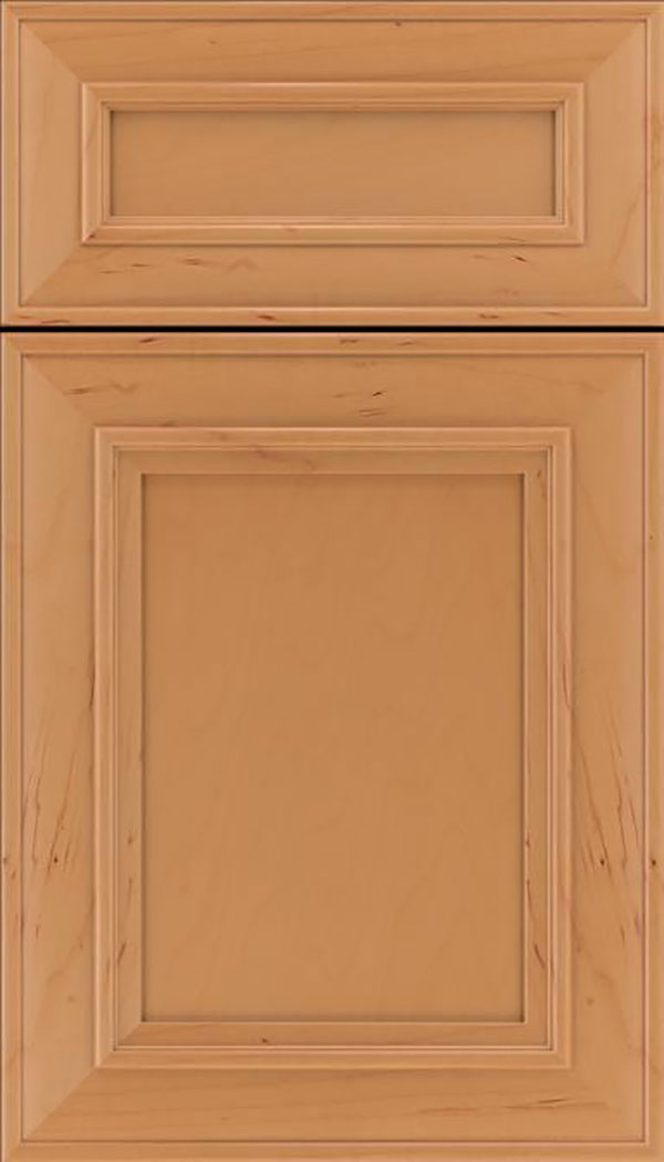 Sheffield 5pc Maple recessed panel cabinet door in Ginger