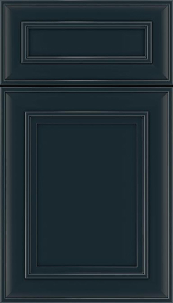 Sheffield 5pc Maple recessed panel cabinet door in Gunmetal Blue