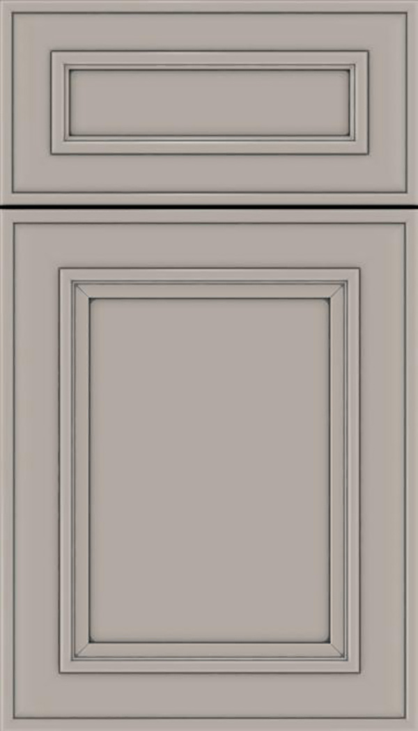 Sheffield 5pc Maple recessed panel cabinet door in Nimbus with Pewter glaze