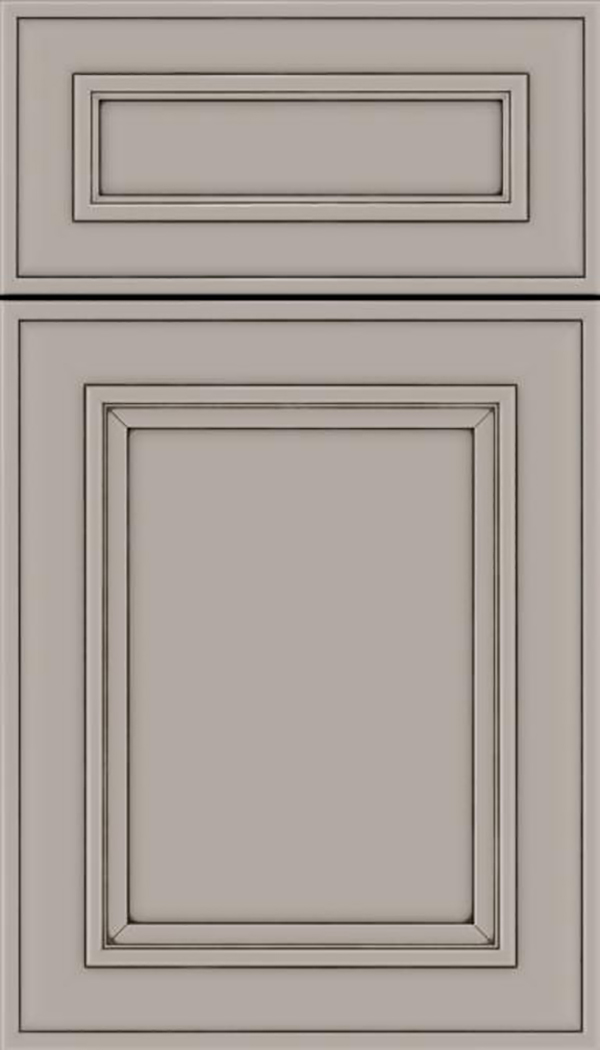 Sheffield 5pc Maple recessed panel cabinet door in Nimbus with Smoke glaze
