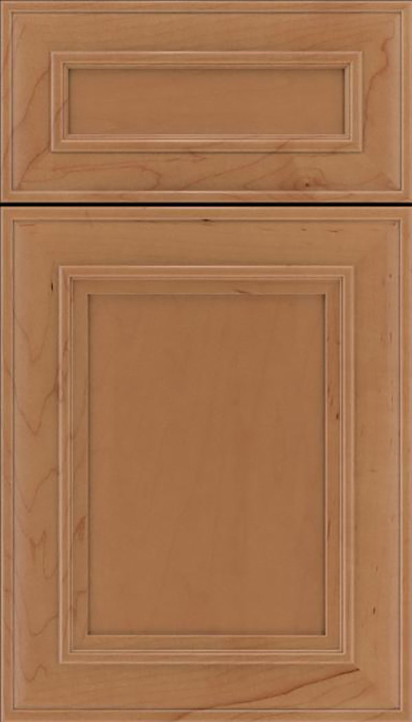 Sheffield 5pc Maple recessed panel cabinet door in Nutmeg