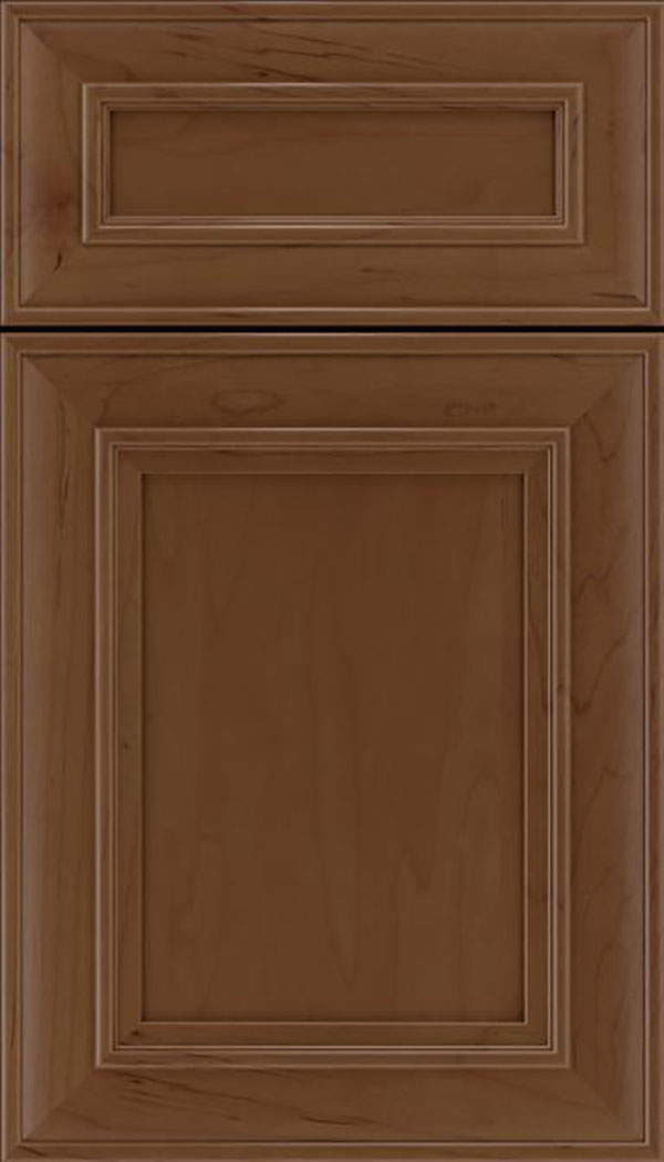 Sheffield 5pc Maple recessed panel cabinet door in Sienna