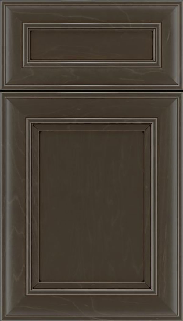 Sheffield 5pc Maple recessed panel cabinet door in Thunder with Black glaze