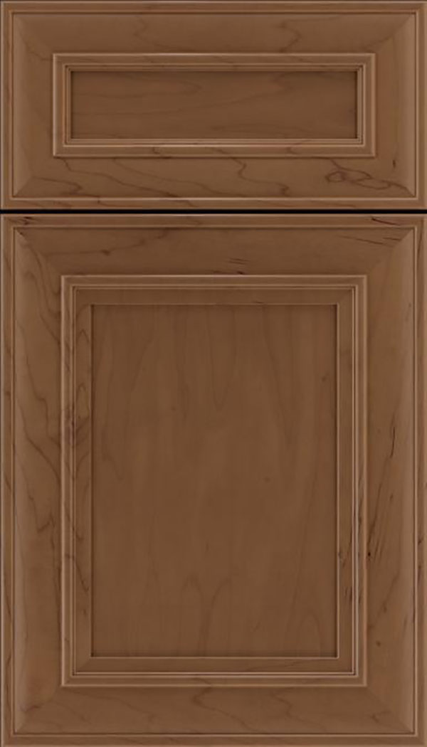 Sheffield 5pc Maple recessed panel cabinet door in Toffee