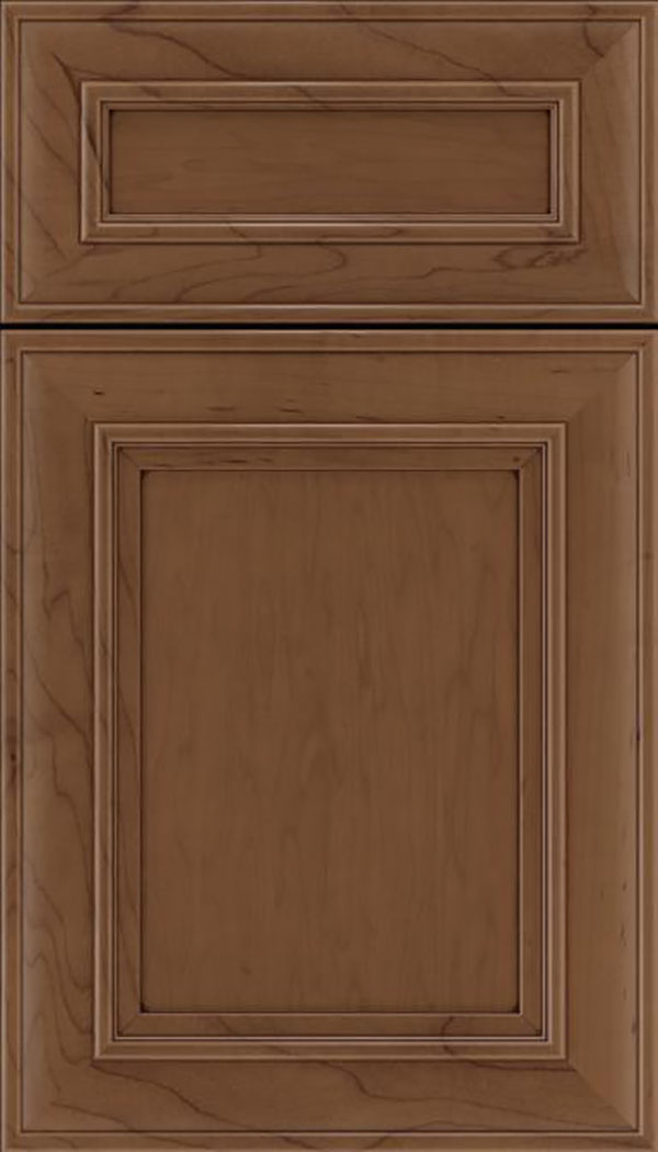 Sheffield 5pc Maple recessed panel cabinet door in Toffee with Mocha glaze