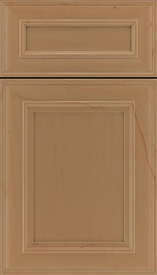 Sheffield 5pc Maple recessed panel cabinet door in Tuscan