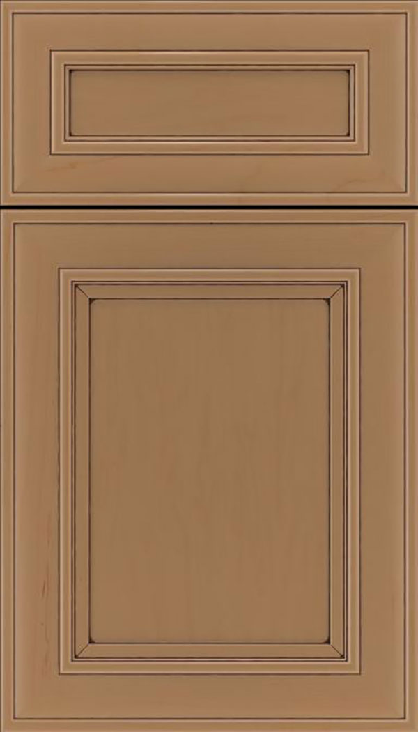 Sheffield 5pc Maple recessed panel cabinet door in Tuscan with Mocha glaze