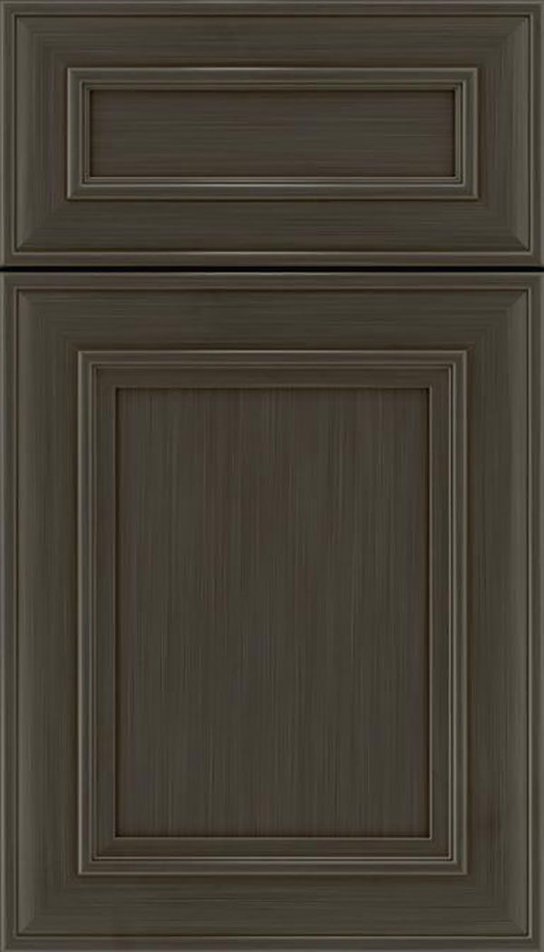 Sheffield 5pc Maple recessed panel cabinet door in Weathered Slate