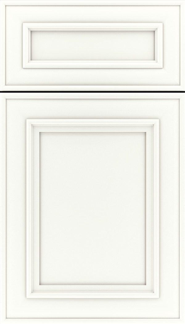 Sheffield 5pc Maple recessed panel cabinet door in Whitecap