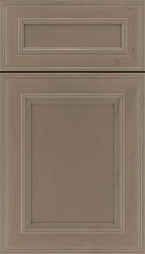 Sheffield 5pc Maple recessed panel cabinet door in Winter with Pewter glaze