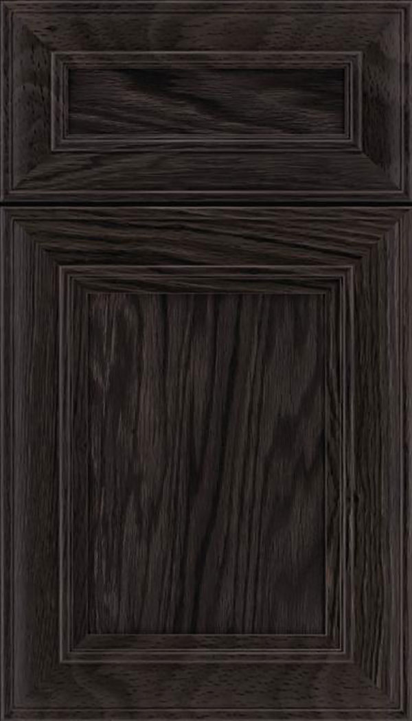 Sheffield 5pc Oak recessed panel cabinet door in Espresso