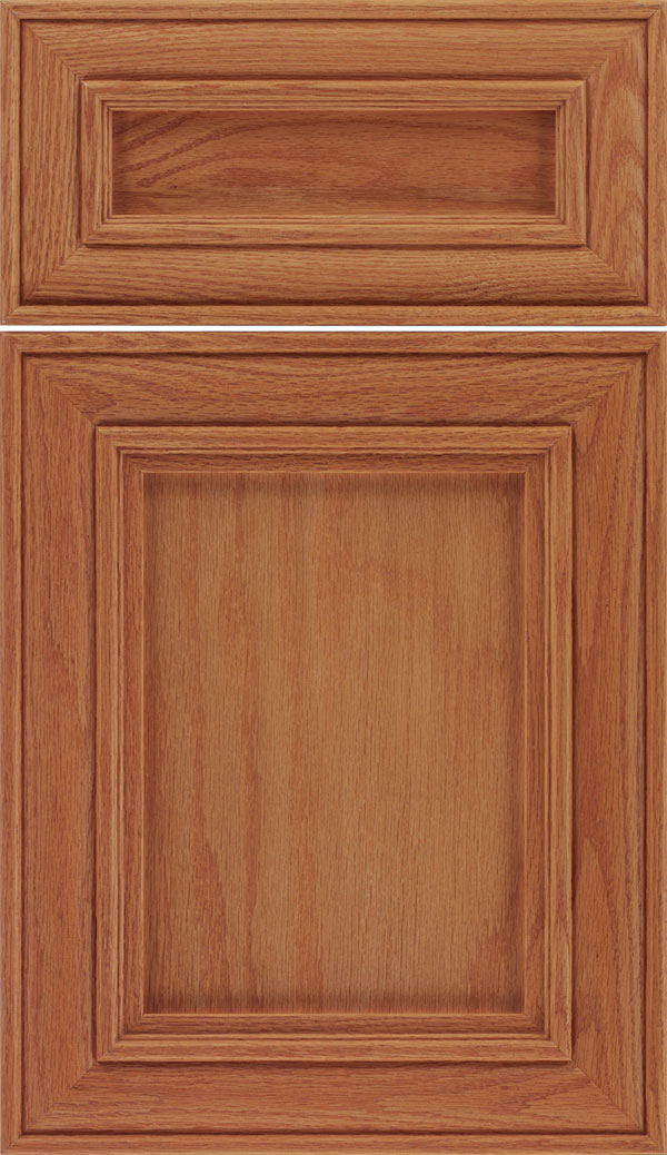 Sheffield 5pc Oak recessed panel cabinet door in Spice