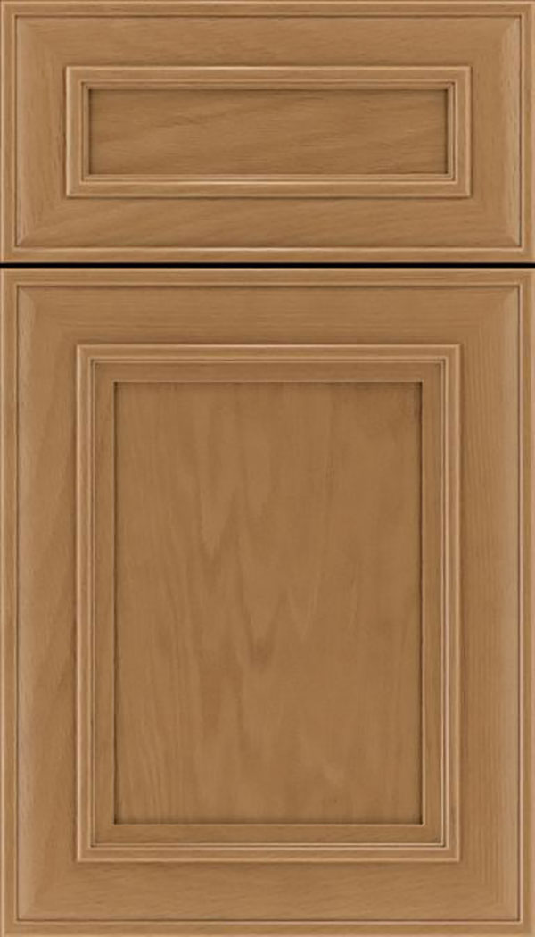 Sheffield 5pc Oak recessed panel cabinet door in Tuscan