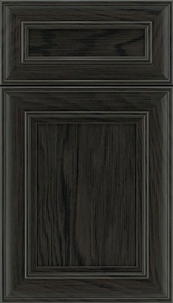 Sheffield 5pc Oak recessed panel cabinet door in Weathered Slate
