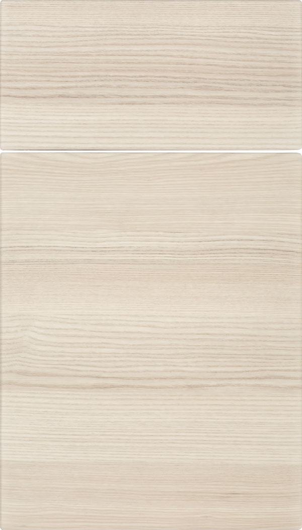 Soho Horizontal Thermofoil cabinet door in Talc