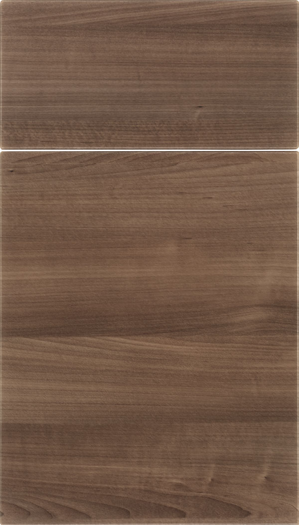 Soho Horizontal Thermofoil cabinet door in Warm Walnut