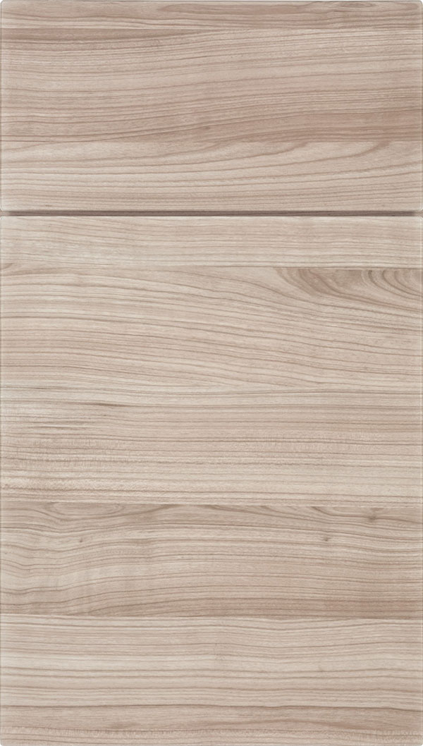 Soho Horizontal Thermofoil cabinet door in Woodgrain Silt