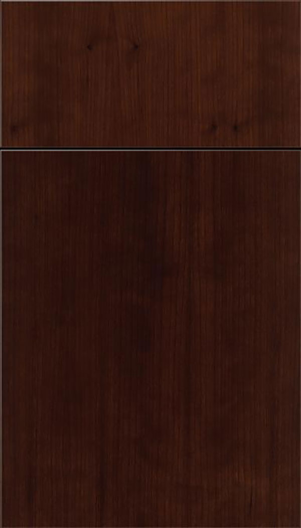 Summit Cherry slab cabinet door in Cappuccino
