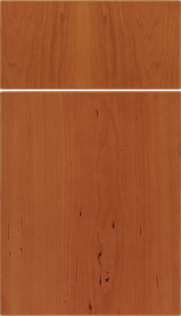 Summit Cherry slab cabinet door in Ginger