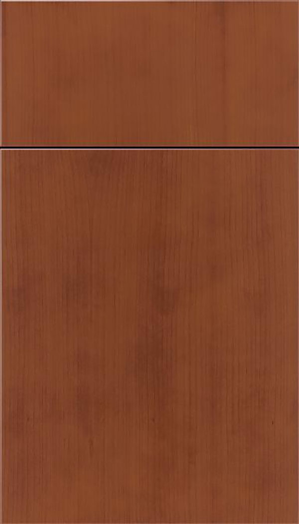 Summit Cherry slab cabinet door in Russet