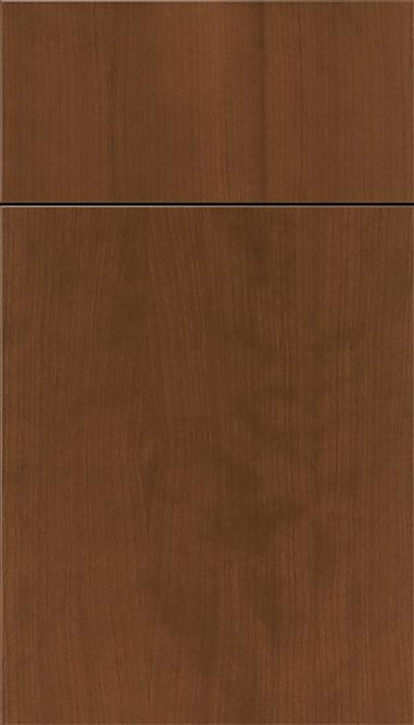 Summit Cherry slab cabinet door in Sienna