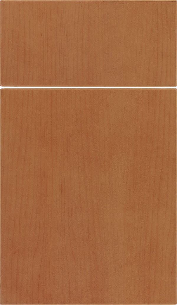 Summit Maple slab cabinet door in Ginger