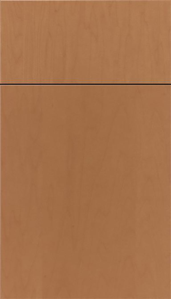 Summit Maple slab cabinet door in Nutmeg