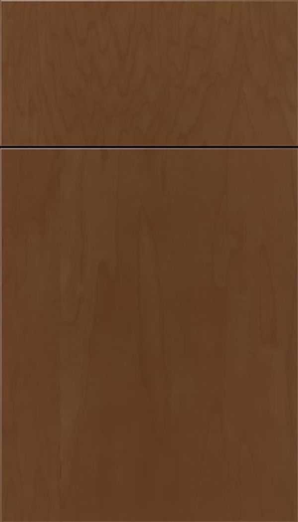Summit Maple slab cabinet door in Sienna