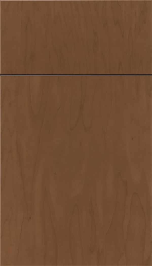 Summit Maple slab cabinet door in Toffee