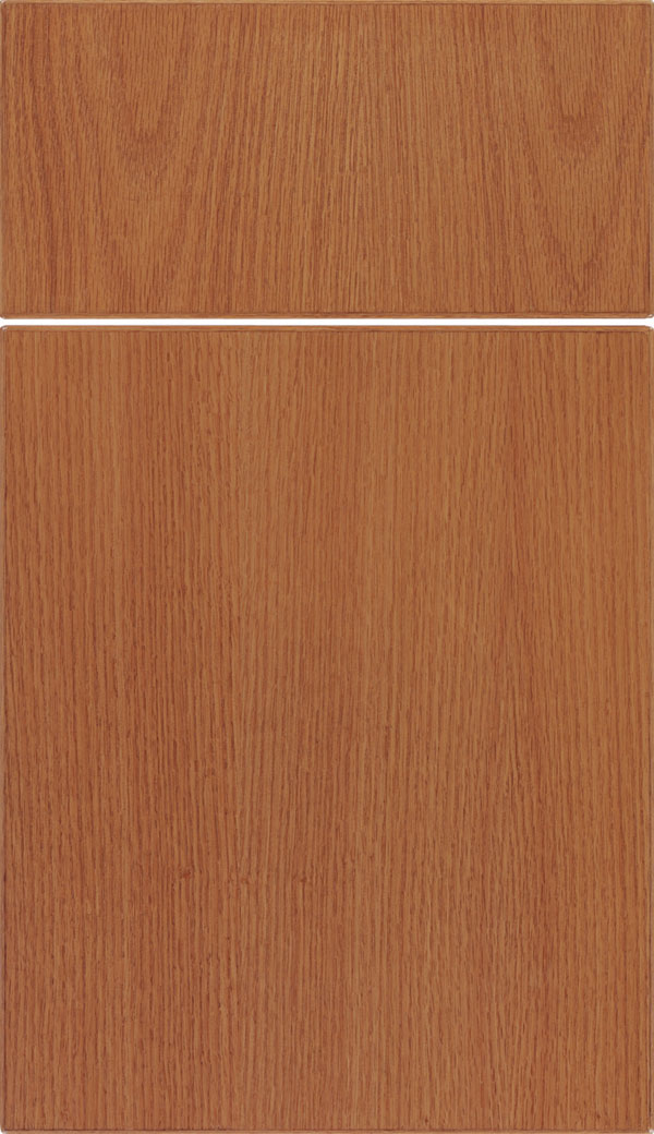 Summit Oak slab cabinet door in Spice