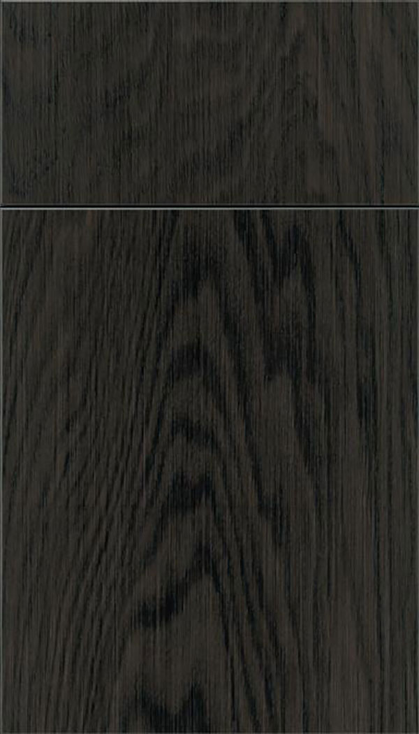 Summit Oak slab cabinet door in Weathered Slate