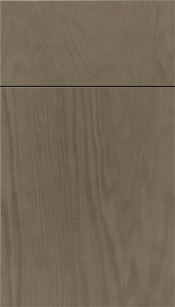 Summit Oak slab cabinet door in Winter
