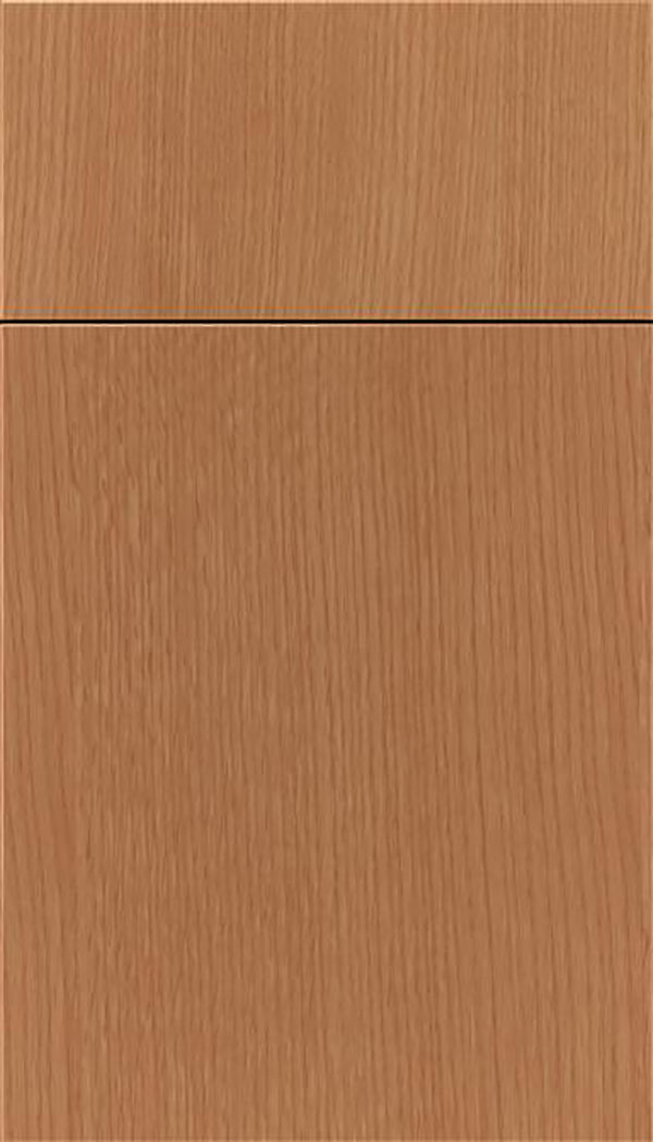 Summit Rift Oak slab cabinet door in Ginger