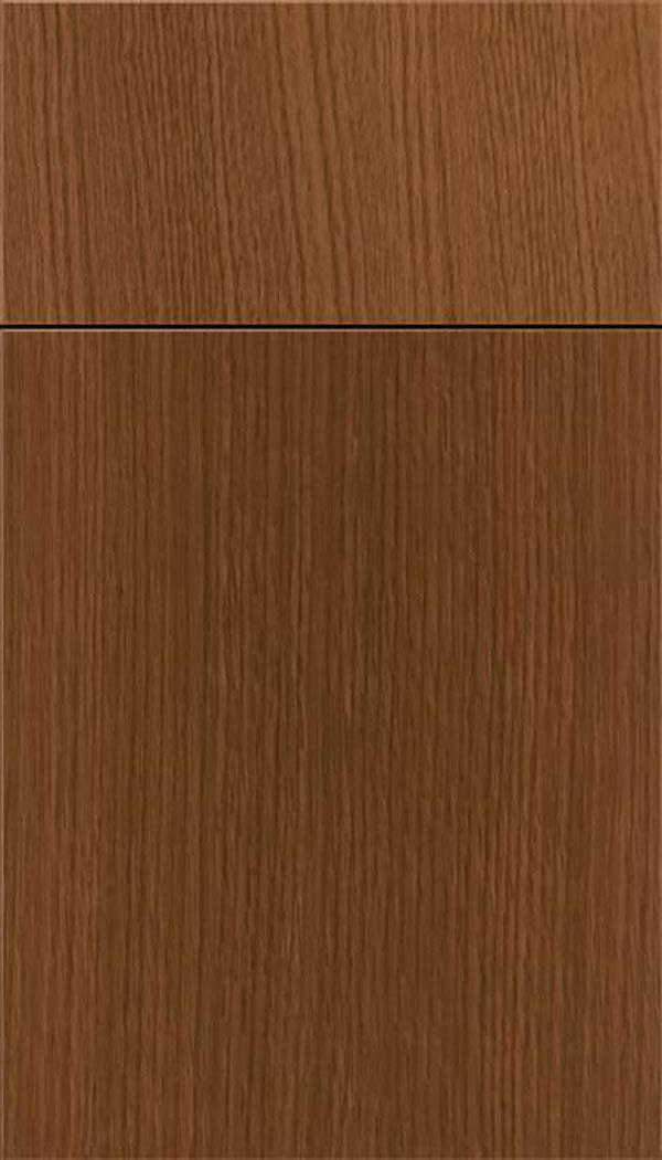Summit Rift Oak slab cabinet door in Sienna