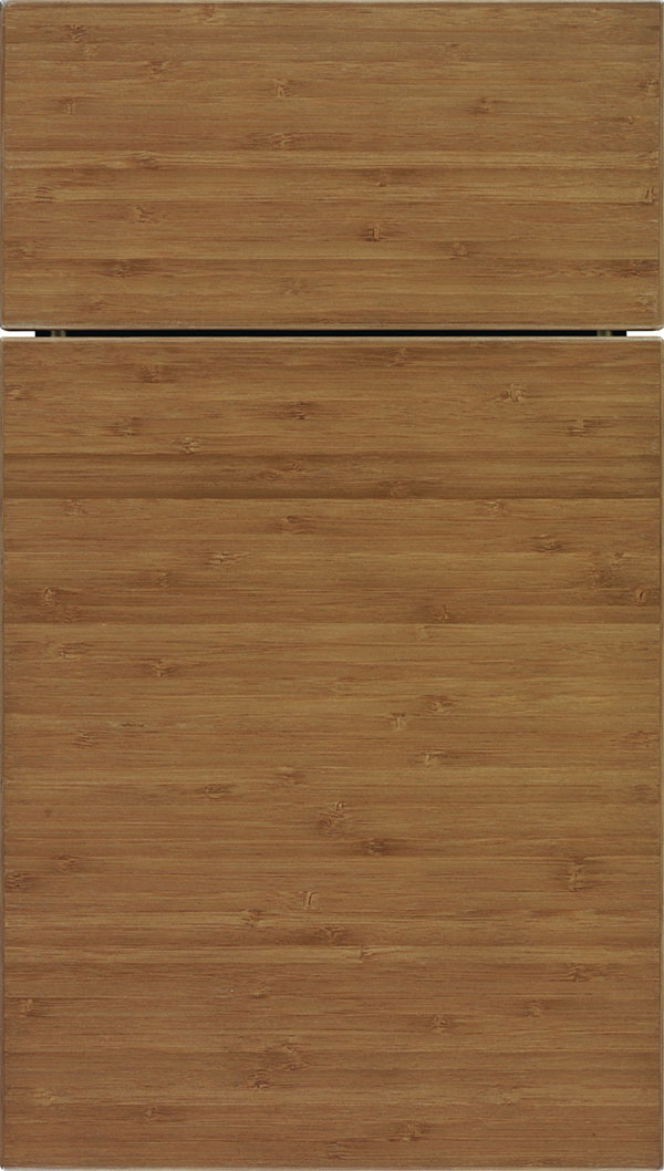 Summit horizontal Bamboo slab cabinet door in Tuscan