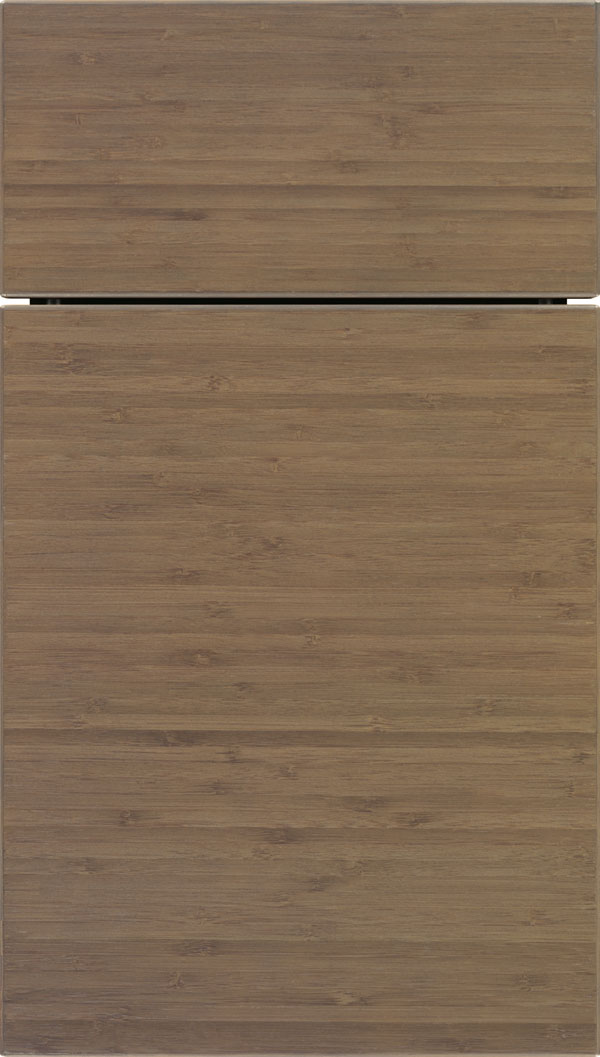 Summit horizontal Bamboo slab cabinet door in Winter