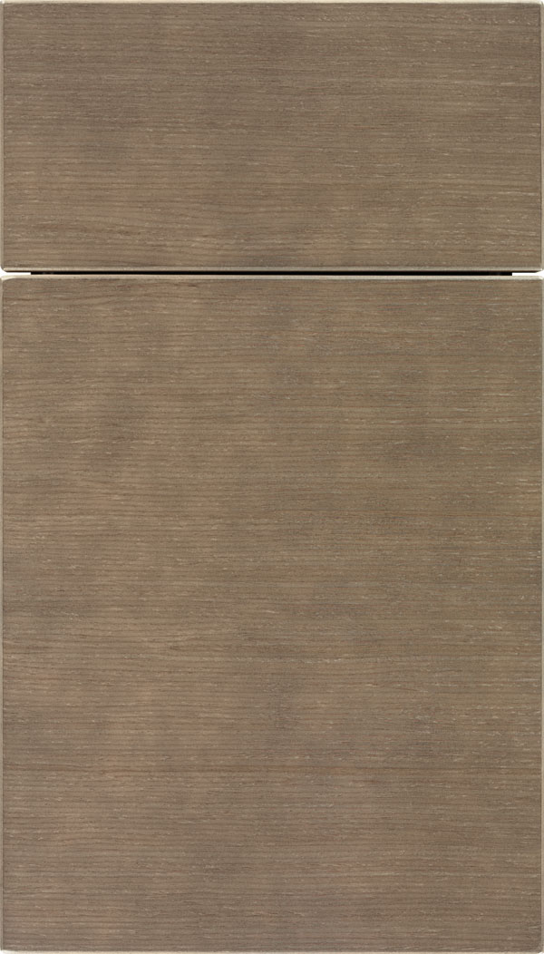 Summit Horizontal White Oak slab cabinet door in Winter
