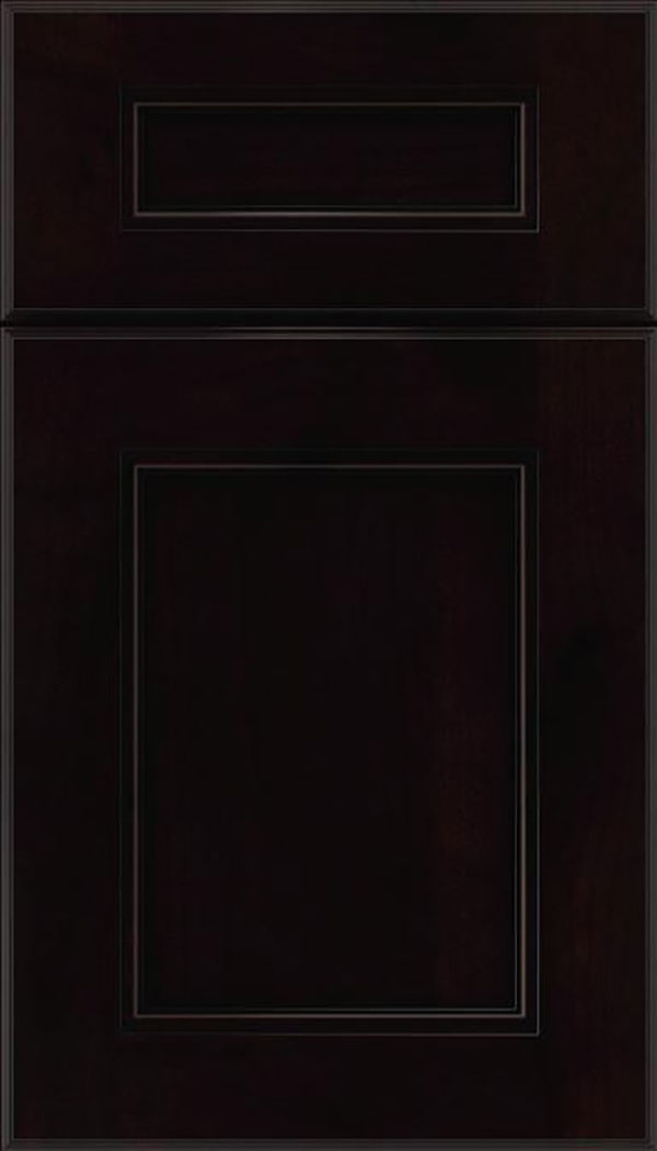 Tamarind 5pc Alder shaker cabinet door in Espresso with Black glaze
